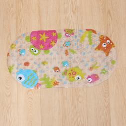 1pc Shower Rug Non-Slip Tub Carpet with Suction Cups for Bab