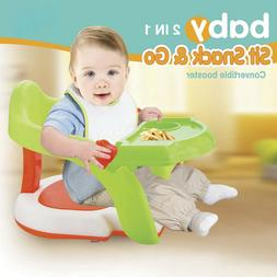 2-in-1 Baby Bath Tub Seat Infant Toddler Training Dinning Bo
