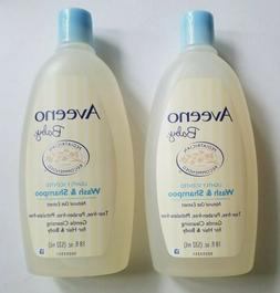 2 packs - AVEENO Baby Lightly Scented Wash and Shampoo 18 oz