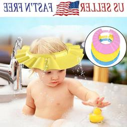 2X Baby Shampoo Cap For Kid Bath Shower Adjustable Hat Bathi
