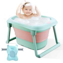 3-in-1 Baby Bath Tub Portable Toddler Collapsible Bathtub In
