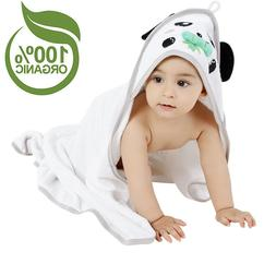 "35x35"" Bamboo Hooded Baby Bath Towel Soft Super Absorbent In"