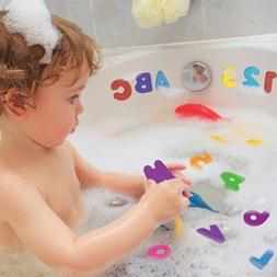 US 36x Toddler A-Z 0-9 Foam Letters Numbers Baby Kids Bath S