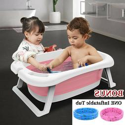 4 in 1 Baby Shower Portable Silicone Bath Tubs Hat+Pad+Duck