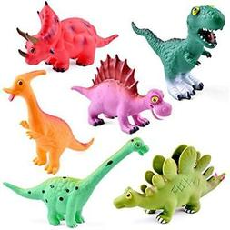 9'' to 12'' Dinosaur Baby Bath Toys, 6 Pack Dinosaur Figures
