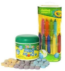 Crayola Bathtub Crayons with Crayola Color Bath Drops 60 tab