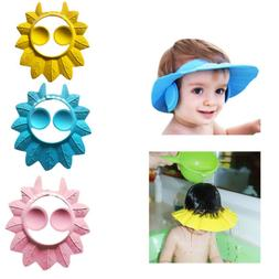 Adjustable Baby Kid Shampoo Bath Shower Cap Ear Cover Hat Wa