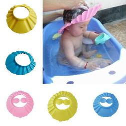 Adjustable Kids Baby Shampoo Cap Bath Bathing Caps Shower Ha
