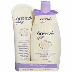 Aveeno Baby Calming Comfort Bath & Lotion Set, Baby Skin Car