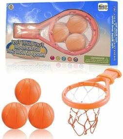 Baby & Toddler Gift Set Bath Toy Basketball Balls & Hoop Bat