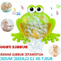 Baby Bath Big Frog- Bubble Machine Automatic With Music Wate