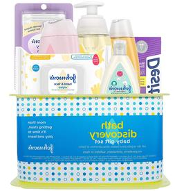 Baby Bath Gift Set Johnsons 7 Pc Lotion Shampoo Hand Face Wi