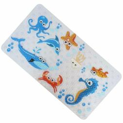 Baby Bath Mat With Suction Cups For Tub, Non Slip Kids Batht