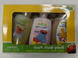 Sesame Street Baby Bath Pack  3 - 1 fl oz Bottles