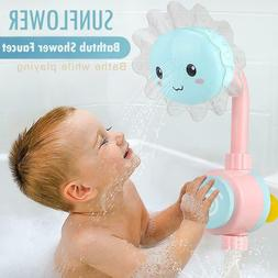 Baby Bath Toy Funny Water Game Sunflower Bathtub Shower Fauc