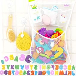 36 Bath Toys Letters & Numbers + The Original Toy Organizer