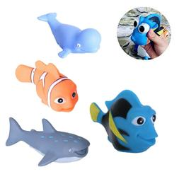 Baby Bath Toys Cartoon Marine Animals Kids Bathtub Salvage T