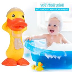 Baby Bath Toys Temperature Sensitive Duck Bathroom Water Spr