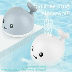 Baby Bath Toys Whale Water Spray Toy Light Electric Inductio