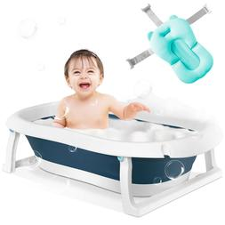 Baby Bath Tub, Foldable Infant Collapsible Toddler Bathing S