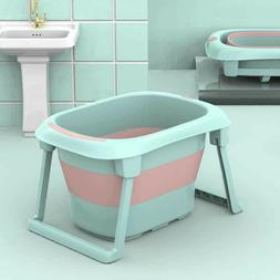 Baby Bath Tub, Folding Infant Bathtub, Portable Collapsible