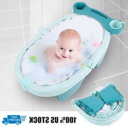 Baby Bath Tub Safety Blue Seat Bathing Newborn Toddler Showe