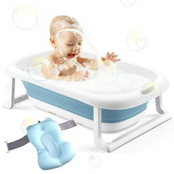 Baby Bathtub Foldable Infant Bath Tub Toddler Bathing Suppor