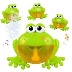 Baby Bubble Machine Toddler Bath Bubble Blower, Big Frogs Bu