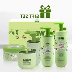 WBM Baby Care Skin and Bath Products 5 in 1 Items - Green