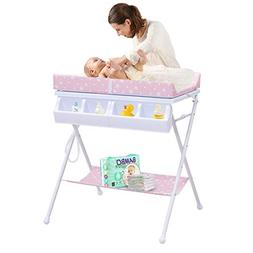 Costzon Baby Changing Table, Folding Diaper Station Nursery