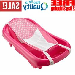 Baby Infant Bath Tub Safety Pink Seat Bathing Newborn Shower