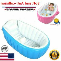 Baby Infant Inflatable Bath Tub Seat Mommy Helper Kid Toddle
