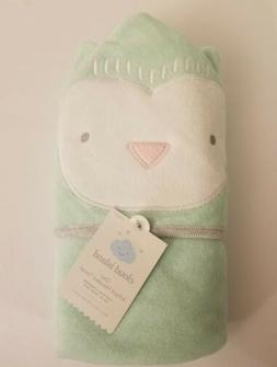Baby Infant Owl Hooded Towel - Cloud Island™ Mint Green On