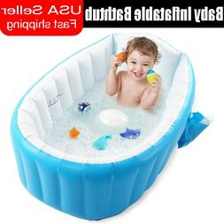 Baby Inflatable Bathtub Thick Portable Bathing Bath Tub For
