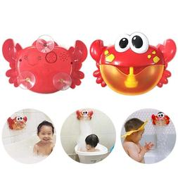 Baby Kid Big Crab Automatic Bubble Maker Blower Music Bath T