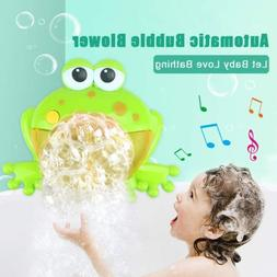 Baby Kid Frog Fram Maker Machine Bubble Bath Water Toy Music