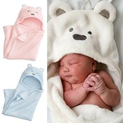 Baby Kids Blanket Towels Cotton Animal Shape Hooded Bath Tow