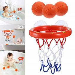 Baby Kids Child Bathtub Toy Mini Basketball Hoop & 3 Balls S