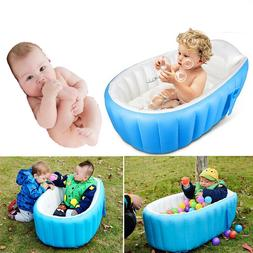 Baby Infant Inflatable Bath Tub Seat Mommy Helper Kid Toddler Portable Bathtub @