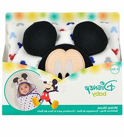 Disney Baby Mickey Mouse Embroidered Hooded Bath Swaddle, Wh