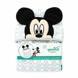 Disney Baby Mickey Mouse Hooded Bath Swaddle Towel Cotton NI