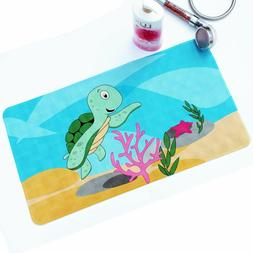 Baby Non-Slip Bath tub and Shower Mat for Kid's, Sea Turtle