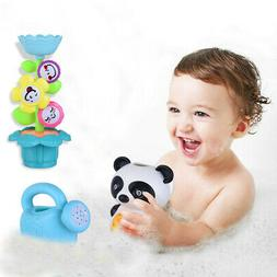 Baby Toddler Bath Toys Set Flower Waterfall Water Station Fu
