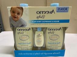 AVEENO BABY WASH & SHAMPOO with Free Bonus Lotion New