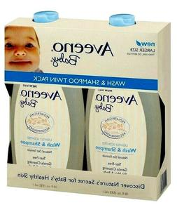 Aveeno Baby Wash Tear-Free Shampoo For Hair and Body, 2 pk 1