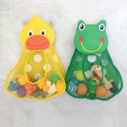 Baby Bath Play Water Duck Frog Toys Storage Bag Kids Bathroo