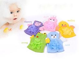 Infant Bath Glove - Baby Bath Sponge Glove - 1PCS Cute Child