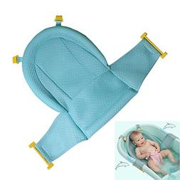 Autbye Baby Bath Support Seat, Newborn Shower Mesh for Batht