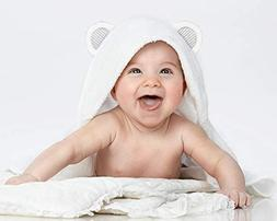 Baby Bath Towel White with Hood for Boys and Girls | Ultra S