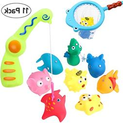 iBaseToy Bath Toy Fishing Game - Catch Cute Fish in The Tub